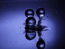 Bola 01 da água azul Foto de Stock Royalty Free