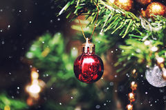 Bola da árvore do ano novo Foto de Stock