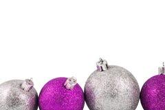 Bola da decoração do Natal em um fundo branco Fotografia de Stock