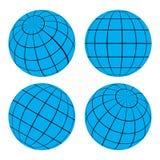 Bola da grade do globo - ilustração do vetor Imagens de Stock Royalty Free