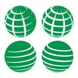 Bola da grade do globo - ilustração do vetor Fotos de Stock Royalty Free