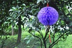Bola das flores de papel do origâmi Imagens de Stock Royalty Free