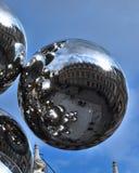 Bola de acero de Anish Kapoor Imagen de archivo libre de regalías