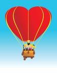 Bola de aire del amor en cielo Imágenes de archivo libres de regalías