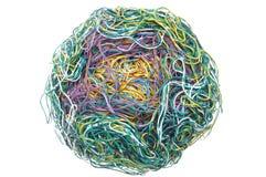 Bola de alambres enredados Fotos de archivo
