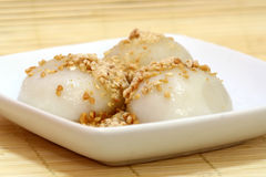 Bola de arroz pegajosa Fotografía de archivo libre de regalías