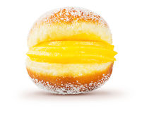 Bola de Berlim Berliner葡萄牙语油煎的酥皮点心 库存照片