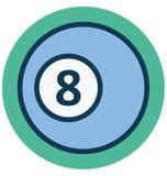 Bola de bilhar, ícone isolado do vetor do número oito que pode facilmente alterar ou editar ilustração stock