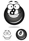 Bola de billar sonriente del número 8 Foto de archivo libre de regalías
