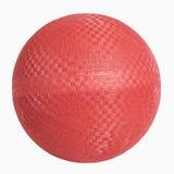 Bola de borracha vermelha da parede imagem de stock