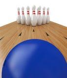 Bola de bowling ilustración del vector