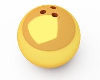 Bola de bowling del oro Imagen de archivo