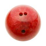 Bola de bowling vermelha Fotos de Stock Royalty Free