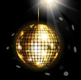 Bola de brilho do disco Imagens de Stock
