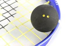 Bola de calabaza en la raqueta fotografía de archivo libre de regalías