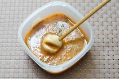Bola de carne en salsa Imagen de archivo