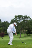 Bola de conducción del golfista de la camiseta Foto de archivo