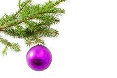 Bola de cristal colgante de la Navidad Imágenes de archivo libres de regalías