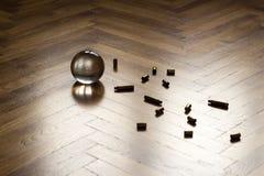 Bola de cristal con los cartuchos Imagen de archivo