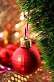 Bola de cristal de la decoración del Año Nuevo Foto de archivo libre de regalías