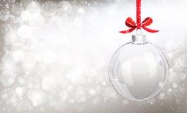 Bola de cristal de la Navidad Foto de archivo libre de regalías
