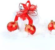 Bola de cristal de la Navidad Fotos de archivo