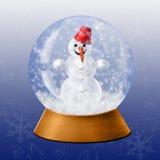 Bola de cristal de la nieve Fotos de archivo