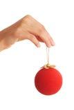 Bola de cristal del asimiento de la mano Imagenes de archivo