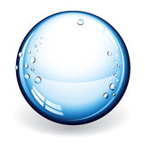 Bola de cristal del vector ilustración del vector