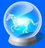 Bola de cristal do cavalo afortunado Fotos de Stock