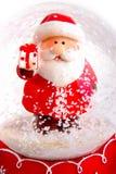 Bola de cristal do Natal Imagens de Stock Royalty Free