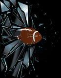 Bola de cristal quebrada del fútbol americano libre illustration