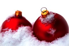 Bola de cristal roja Fotografía de archivo libre de regalías