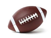 Bola de cuero del fútbol americano imagen de archivo libre de regalías