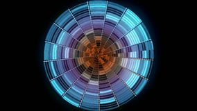 Bola de discoteca abstracta en fondo negro animaci?n La bola de discoteca de la pendiente del color con puntos culminantes reflex libre illustration