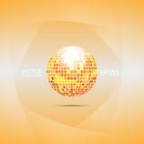 Bola de discoteca anaranjada y roja Fotografía de archivo libre de regalías