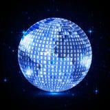 Bola de discoteca azul del planeta Stock de ilustración
