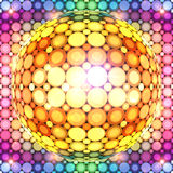 Bola de discoteca colorida brillante Imagen de archivo libre de regalías