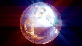 bola de discoteca de la animación 3d stock de ilustración