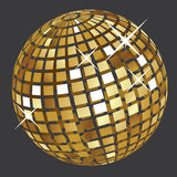 Bola de discoteca de oro Fotografía de archivo