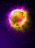 Bola de discoteca del espejo stock de ilustración