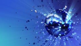 Bola de discoteca del resplandor que pulsa y de giro integrada por cubo-cristales libre illustration