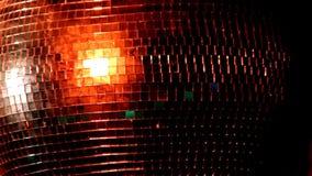 Bola de discoteca de plena pantalla almacen de metraje de vídeo
