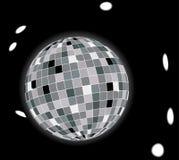 Bola de discoteca que brilla intensamente imagen de archivo