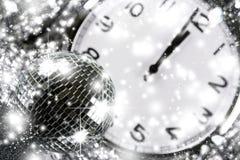 Bola de espejo del disco Año Nuevo Imágenes de archivo libres de regalías