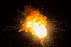 Bola de fogo: explosão, detonação Imagem de Stock