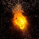 Bola de fogo: explosão, detonação Fotos de Stock