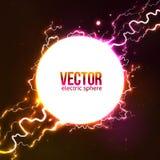 Bola de fuego blanca del plasma del vector Fotos de archivo libres de regalías
