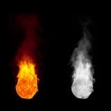 Bola de fuego con la llama de levantamiento Fotografía de archivo