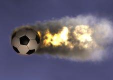 Bola de fuego del balón de fútbol Imagen de archivo libre de regalías